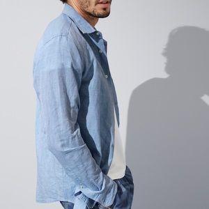 Banana Republic Slim Fit Linen-Cotton Shirt